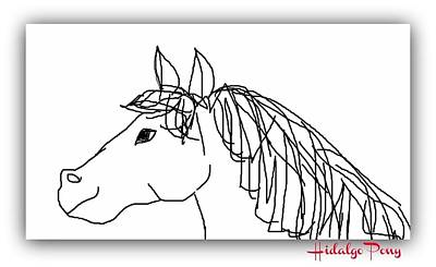 Digital Art - Hidalgo Pony by Art by Dance
