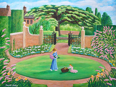 Lavender Painting - Hidcote Gardens - Cotswolds by Ronald Haber