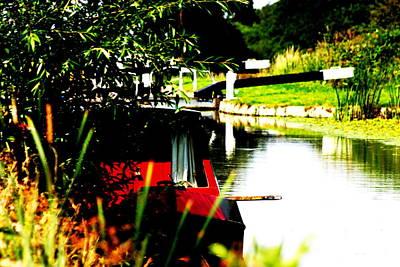 Hidden Barge Art Print by David Wood