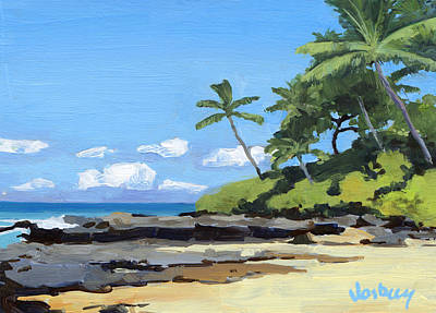 Haiku Wall Art - Painting - Hidden Beach Makena by Stacy Vosberg