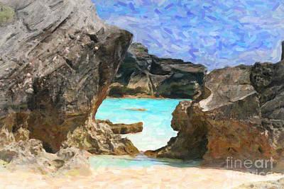 Art Print featuring the photograph Hidden Beach by Verena Matthew