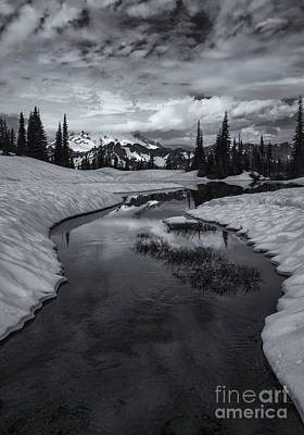 Thawing Photograph - Hidden Beneath The Clouds by Mike  Dawson