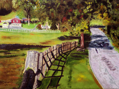 Art Print featuring the painting Hidden Brook Farm by Michael Daniels