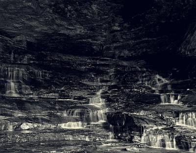 Photograph - hidden cascade waterfalls Carter Caves by Chris Flees