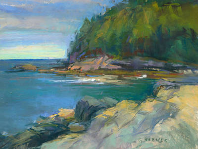 Painting - Hidden Cove by Greg Barnes