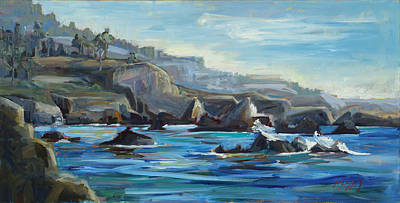 Hidden Cove  Plein Air Original by Marie Massey