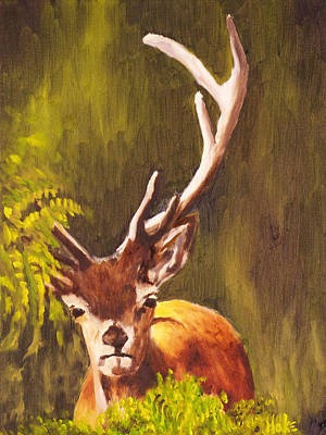 Painting - Hidden Deer by Scott Hoke
