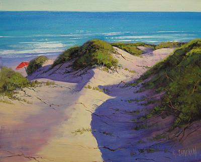 Australian Beach Painting - Hidden Dunes by Graham Gercken