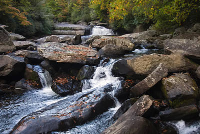 Photograph - Hidden Fall On The Horse Pasture River 4 by Chris Flees