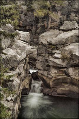 Photograph - Hidden Falls In Watercolor by Erika Fawcett
