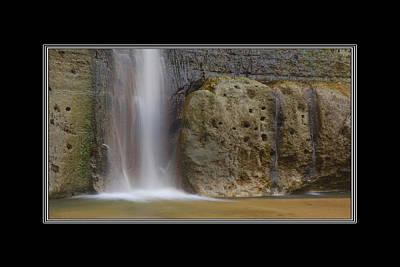 Photograph - Hidden Falls Waterfall Alabama by Charles Beeler