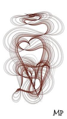 Hidden Hearts Art Print
