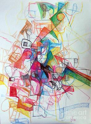 Creativity Drawing - Hidden In The Earth 1 by David Baruch Wolk