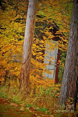 Hidden In The Leaves Art Print by Deborah Benoit