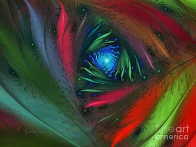 Horizontal Format Digital Art - Hidden Jungle Plant-abstract Fractal Art by Karin Kuhlmann