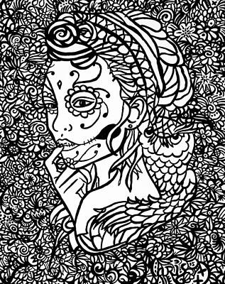Hidden Lady Part 2 Print by Alex Hiemstra