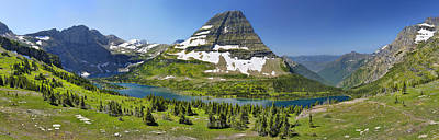 Hidden Lake In Glacier National Park Art Print