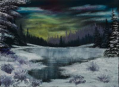 Bob Ross Painting - Hidden Lake by Shannon Wells