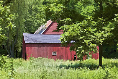 Photograph - Hidden Red Barn by David Letts