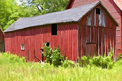 Photograph - Hidden Rustic Barn II by David Letts