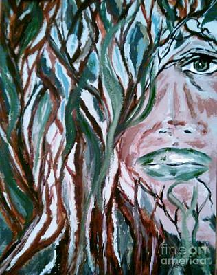 Secret Behind Faces Painting - Hidden Secrets by Lori  Lovetere