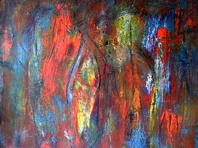 Hidden Art Print by Tanya Lozano Abstract Expressionism