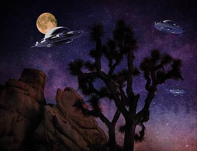 Digital Art - Hidden Valley Invasion by Sandra Selle Rodriguez