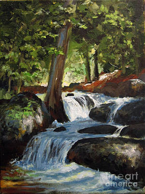 Painting - Hidden Waterfall by Carol Hart
