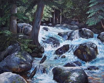 Painting - Hidden Waterfall by Donna Munsch