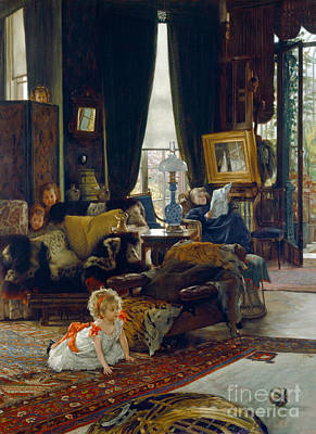 Newton Painting - Hide And Seek by Tissot