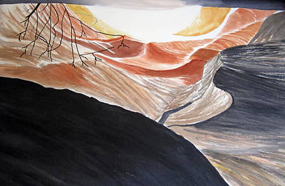 Painting - Hide Away Antelope Canyon Arizona by Elvira Ingram