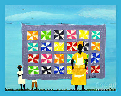 Gullah Geechee Painting - Hide N Seek With Floye's Quilt by Samantha Claar
