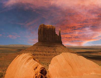 Behind The Rocks Photograph - Hiding Behind The Rocks by Randall Branham
