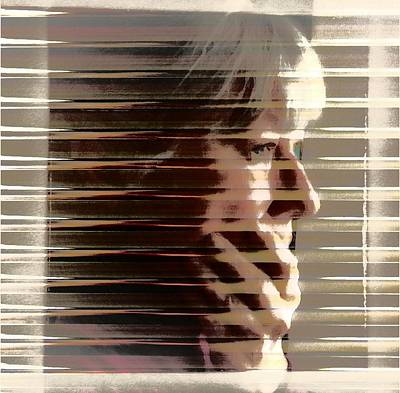 Selfportrait Digital Art - Hiding by Gun Legler