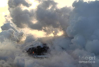 Photograph - Hiding In Smoke And Clouds by Theresa Ramos-DuVon