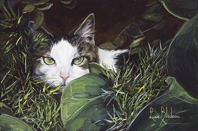 Key West Painting - Hiding by Lucie Bilodeau