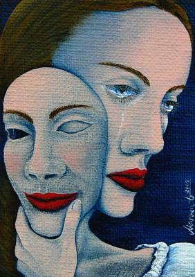 Secrets. Faces Painting - Hiding The Truth by Mareen Haschke