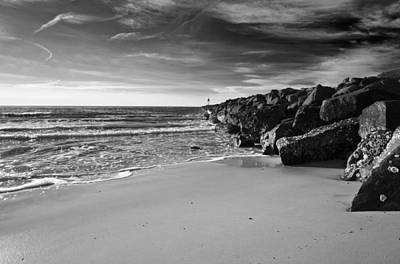 Higbee Beach B/w Print by Jennifer Ancker