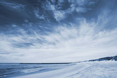 Photograph - Higbee Beach Cyanotype by Jennifer Ancker
