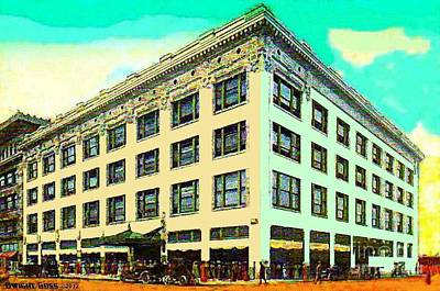 Painting - Higbee's Department Store In Cleveland Oh 1911 by Dwight Goss