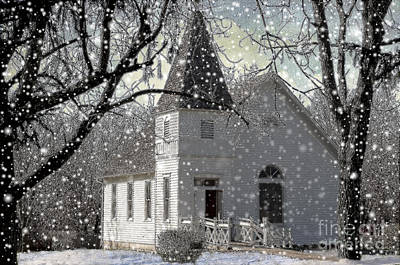 Higgensville Church Print by Liane Wright
