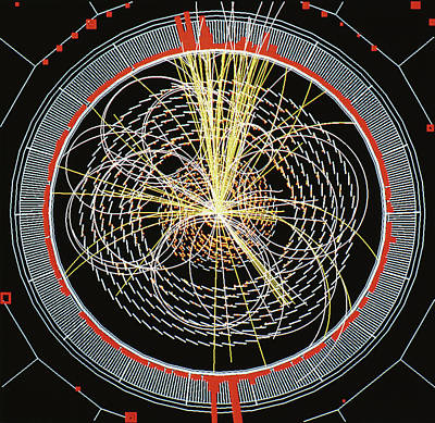 Higgs Boson Decay Model Art Print by Cern/science Photo Library