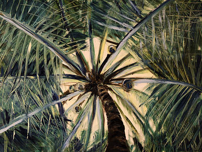 Painting - High - Palm Tree by Gina De Gorna