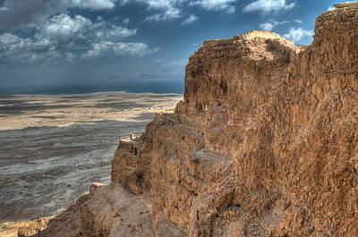 Photograph - High Above Masada by Don Wolf