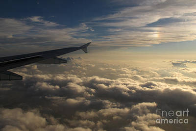 Art Print featuring the photograph High Above The Clouds by Inge Riis McDonald