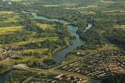 Photograph - High Above The Ottawa River  by Hany J
