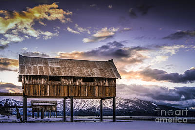 Boat House Photograph - High And Dry At Tahoe by Janis Knight