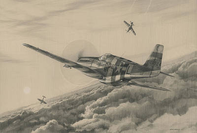 Wwii Drawing - High-angle Snapshot by Wade Meyers