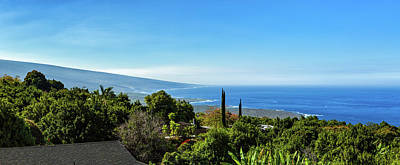 High Angle View From South Kona Art Print by Panoramic Images