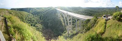 High Angle View Of A Bridge, El Puente Art Print